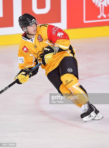 Mikael Kuronen of SaiPa Lappeenranta in action during the Champions Hockey League game between ERC Ingolstadt and SaiPa Lappeenranta on august 23,...