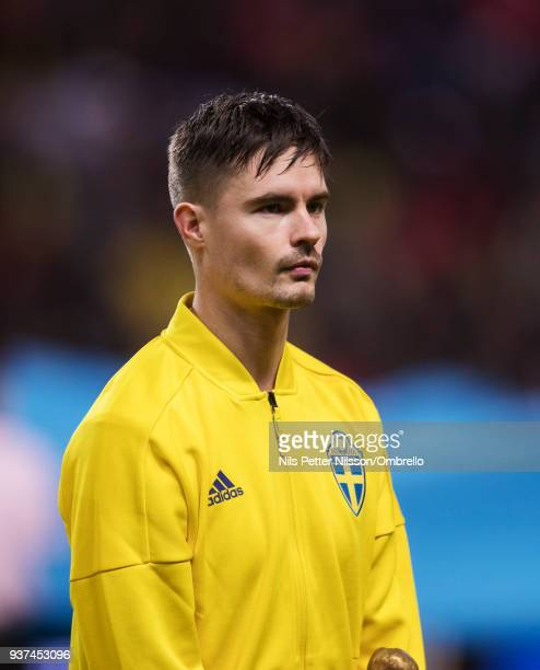 Mikael Lustig of Sweden ahead of the International Friendly match between Sweden and Chile at Friends arena on March 24 2018 in Solna Sweden