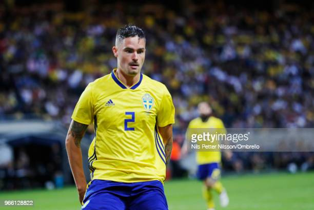 Mikael Lustig of Sweden during the International Friendly match between Sweden and Denmark at Friends Arena on June 2 2018 in Solna Sweden
