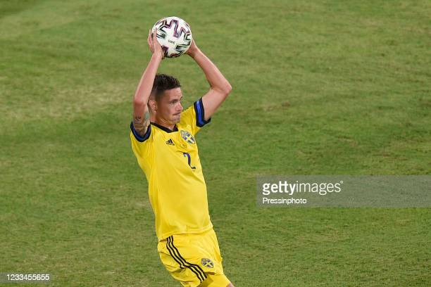 Mikael Lustig of Sweden during the match between Spain and Sweden of Euro 2020, group E, matchday 1, played at La Cartuja Stadium on June 14, 2021 in...