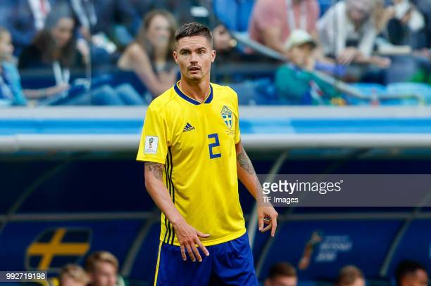 Mikael Lustig of Sweden looks on during the 2018 FIFA World Cup Russia Round of 16 match between Sweden and Switzerland at Saint Petersburg Stadium...