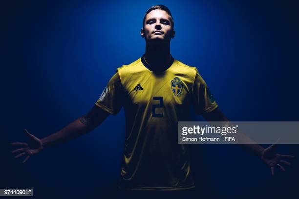 Mikael Lustig of Sweden poses during the official FIFA World Cup 2018 portrait session on June 13 2018 in Gelendzhik Russia