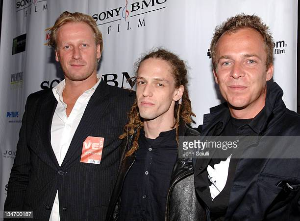 Mikael Rieks Milos Loncarevic and Asger Leth during 31st Annual Toronto International Film Festival Ghosts of Cite Soleil Party at Premiere Lounge in...