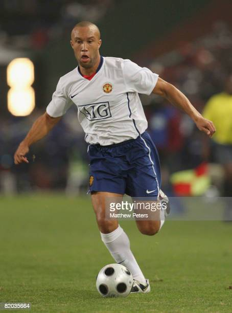 Mikael Silvestre of Manchester United in action during the Vodacom Challenge preseason friendly match between Orlando Pirates and Manchester United...