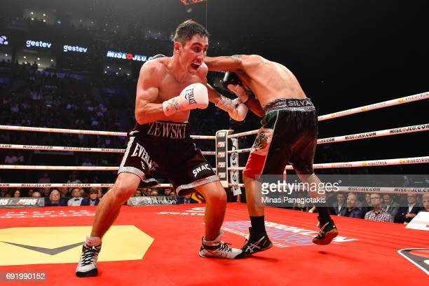 Mikael Zewski sidesteps a punch against Fernando Silva during the Super Welterweight match at the Bell Centre on June 3 2017 in Montreal Quebec Canada
