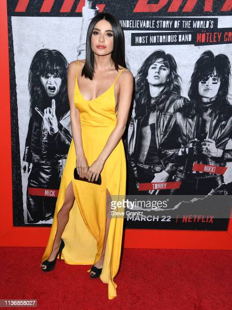 "Mikaela Hoover arrives at the Premiere Of Netflix's ""The Dirt"" at ArcLight Hollywood on March 18, 2019 in Hollywood, California."