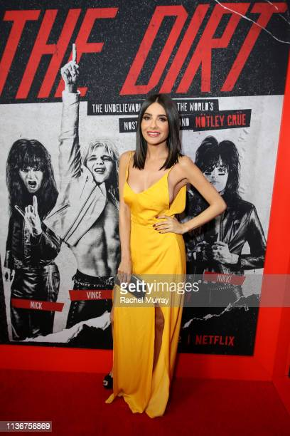 "Mikaela Hoover attends the premiere of Netflix's 'The Dirt"" at the Arclight Hollywood on March 18, 2019 in Hollywood, California."