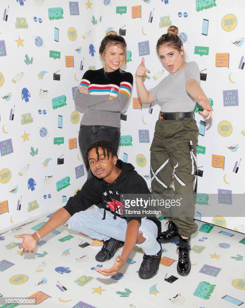 Mikaela Long Kenny Knox and Lauren Giraldo attend ATT Hello Lab's 'STARTER PACK' LOG ON The Internet Experience PopUp on October 13 2018 in Los...