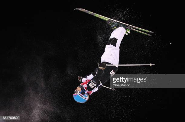 Mikaela Matthews of USA in action during the Ladies Moguls final at the FIS Freestyle Ski World Cup 2016/17 Moguls at Bokwang Snow Park on February...