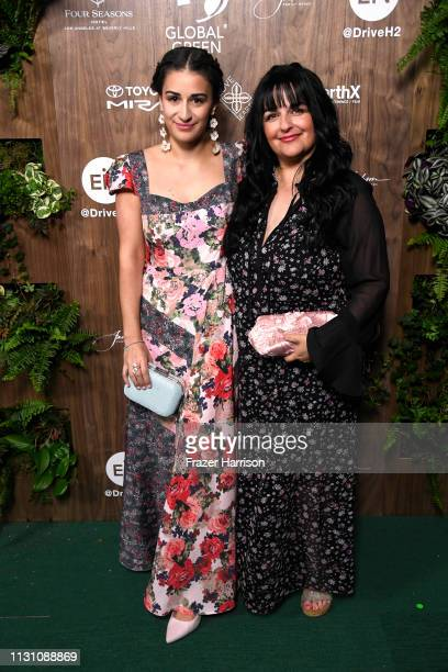 Mikaela Phillips and Chrys Phillips attend the Global Green 2019 PreOscar Gala at Four Seasons Hotel Los Angeles at Beverly Hills on February 20 2019...
