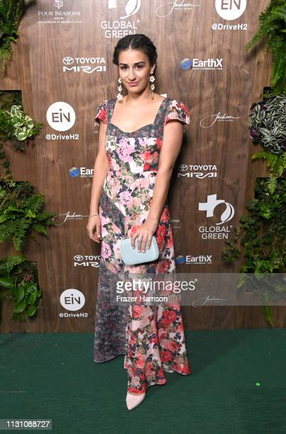 Mikaela Phillips attends the Global Green 2019 PreOscar Gala at Four Seasons Hotel Los Angeles at Beverly Hills on February 20 2019 in Los Angeles...