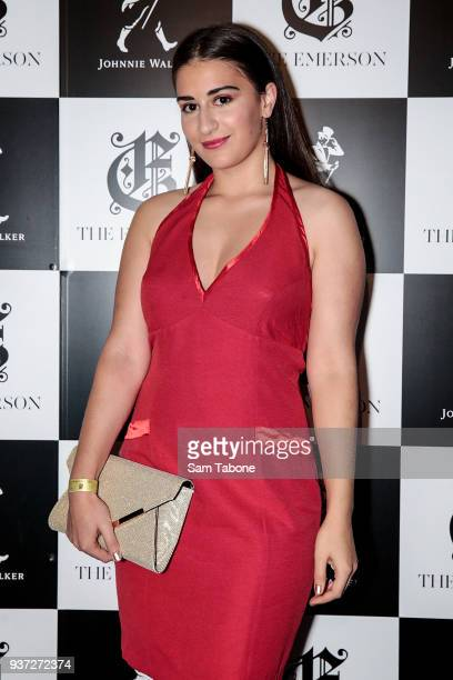 Mikaela Phillips attends the Johnnie Walker Grand Prix Penthouse Party at The Emerson on March 24 2018 in Melbourne Australia