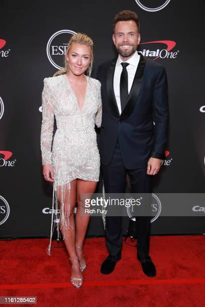 Mikaela Shiffrin and Joel McHale attend The 2019 ESPYs at Microsoft Theater on July 10, 2019 in Los Angeles, California.