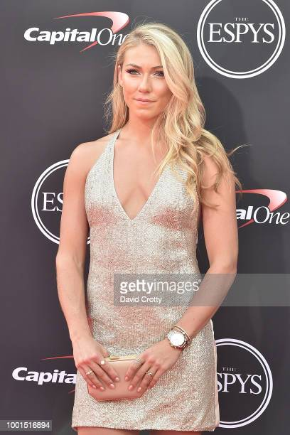 Mikaela Shiffrin attends The 2018 ESPYS at Microsoft Theater on July 18 2018 in Los Angeles California