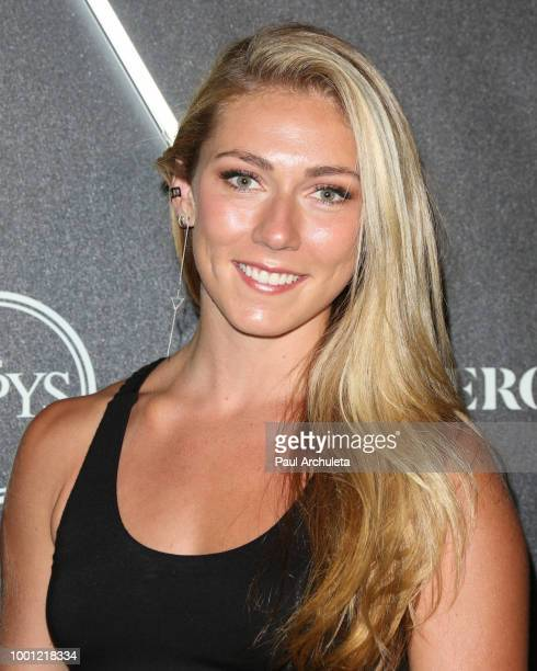 Mikaela Shiffrin attends the ESPN's HEROES At THE ESPYS official preparty at City Market Social House on July 17 2018 in Los Angeles California
