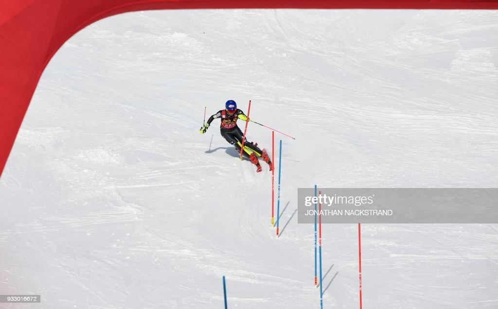 SKI-ALPINE-WORLD-WOMEN-SLALOM : News Photo