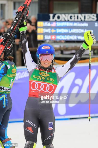 Mikaela Shiffrin of United States of Amerika during the Audi FIS Alpine Ski World Cup Women's Slalom at Maribor on February 2 2019 in Maribor Slovenia