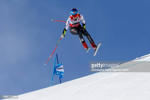 Mikaela Shiffrin of USA competes during the Audi FIS Alpine Ski World Cup Women's Super G on December 8 2018 in St Moritz Switzerland