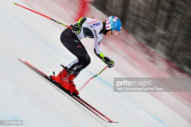 Mikaela Shiffrin of USA competes during the Audi FIS Alpine Ski World Cup Women's Giant Slalom on December 21 2018 in Courchevel France