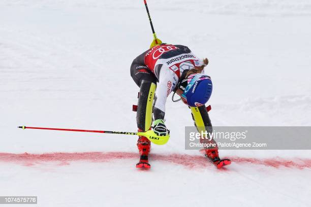 Mikaela Shiffrin of USA competes during the Audi FIS Alpine Ski World Cup Women's Slalom on December 22 2018 in Courchevel France