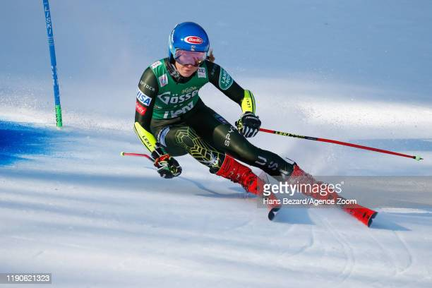 Mikaela Shiffrin of USA competes during the Audi FIS Alpine Ski World Cup Women's Giant Slalom on December 28, 2019 in Lienz Austria.
