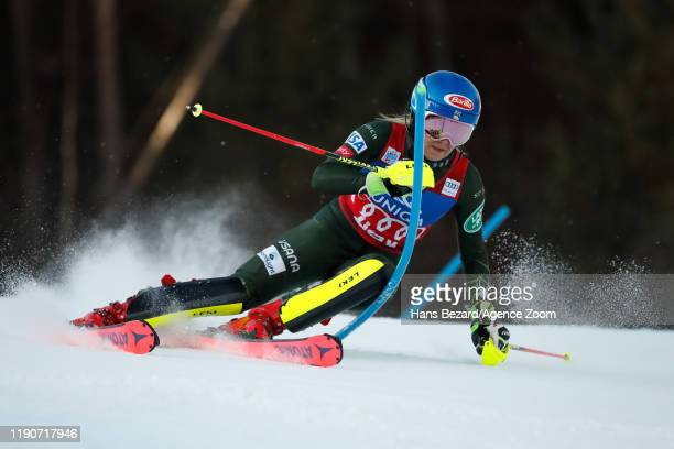 Mikaela Shiffrin of USA competes during the Audi FIS Alpine Ski World Cup Women's Slalom on December 29, 2019 in Lienz Austria.