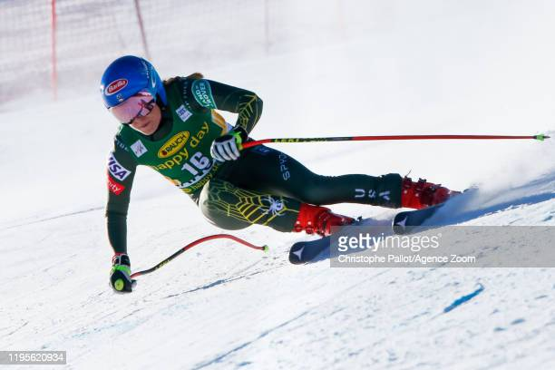 Mikaela Shiffrin of USA competes during the Audi FIS Alpine Ski World Cup Women's Downhill on January 24, 2020 in Bansko Bulgaria.