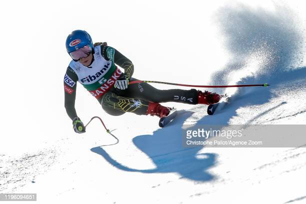 Mikaela Shiffrin of USA competes during the Audi FIS Alpine Ski World Cup Women's Downhill on January 25 2020 in Bansko Bulgaria