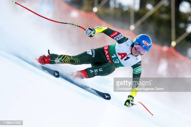 Mikaela Shiffrin of USA competes during the Audi FIS Alpine Ski World Cup Women's Super G on January 26 2020 in Bansko Bulgaria