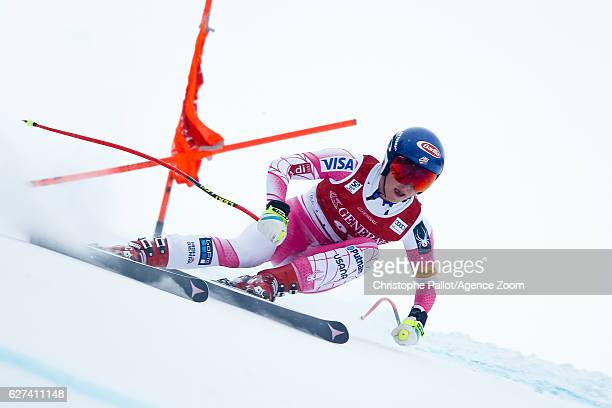 Mikaela Shiffrin of USA competes during the Audi FIS Alpine Ski World Cup Women's Downhill on December 3 2016 in Lake Louise Canada