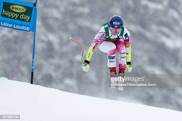 Mikaela Shiffrin of USA competes during the Audi FIS Alpine Ski World Cup Women's SuperG on December 4 2016 in Lake Louise Canada