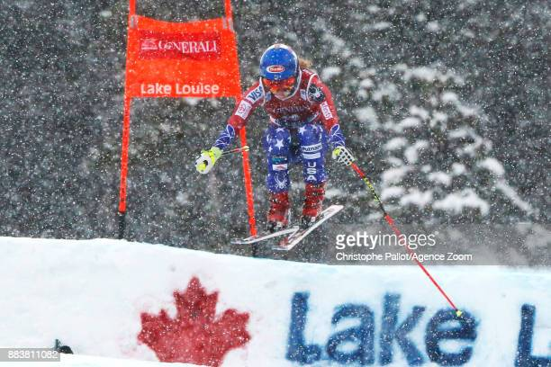 Mikaela Shiffrin of USA competes during the Audi FIS Alpine Ski World Cup Women's Downhill on December 1 2017 in Lake Louise Canada