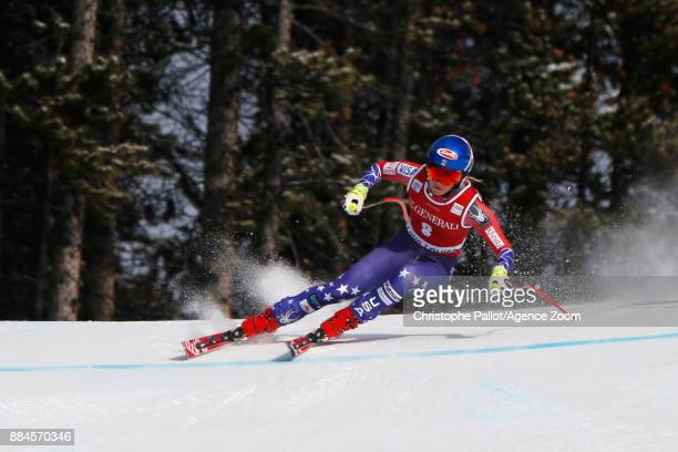 Mikaela Shiffrin of USA competes during the Audi FIS Alpine Ski World Cup Women's Downhill on December 2 2017 in Lake Louise Canada