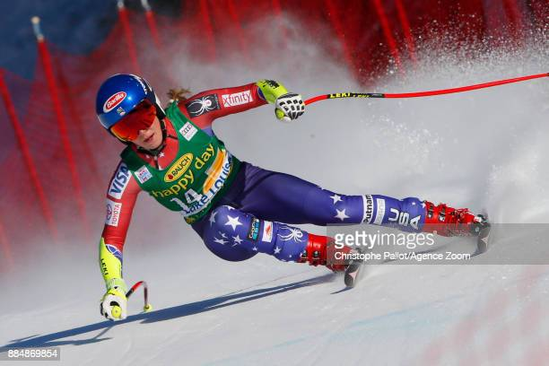 Mikaela Shiffrin of USA competes during the Audi FIS Alpine Ski World Cup Women's Super G on December 3 2017 in Lake Louise Canada