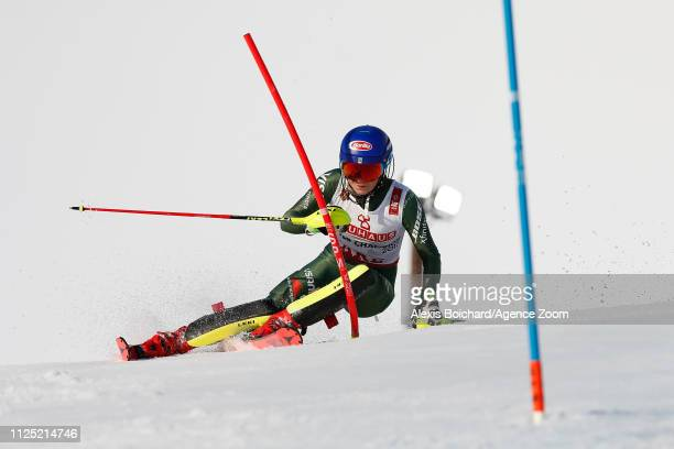 Mikaela Shiffrin of USA competes during the FIS World Ski Championships Women's Slalom on February 16 2019 in Are Sweden