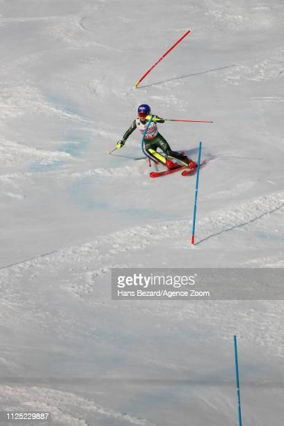 Mikaela Shiffrin of USA competes during the FIS World Ski Championships Women's Slalom on February 16, 2019 in Are Sweden.