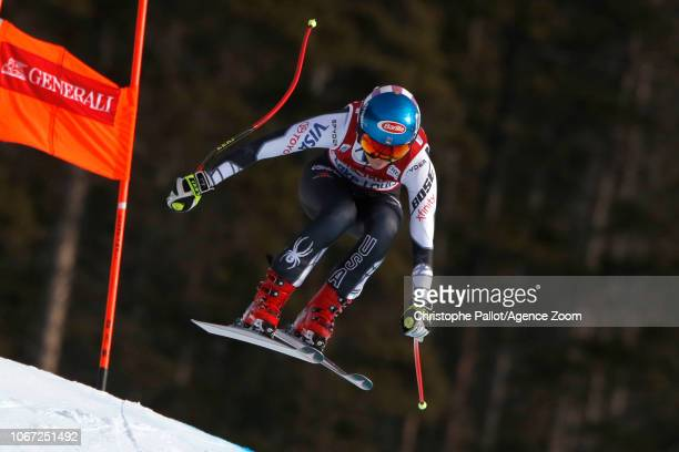 Mikaela Shiffrin of USA in action during the Audi FIS Alpine Ski World Cup Women's Downhill on December 1 2018 in Lake Louise Canada