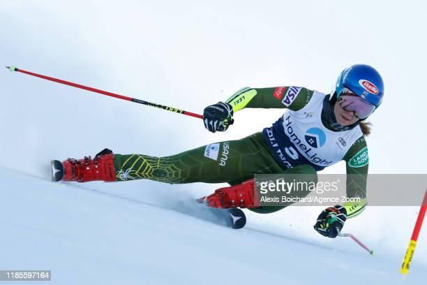 Mikaela Shiffrin of USA in action during the Audi FIS Alpine Ski World Cup Women's Giant Slalom on November 30 2019 in Killington USA