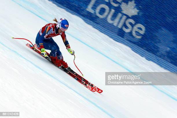 Mikaela Shiffrin of USA in action during the Audi FIS Alpine Ski World Cup Women's Downhill Training on November 28 2017 in Lake Louise Canada