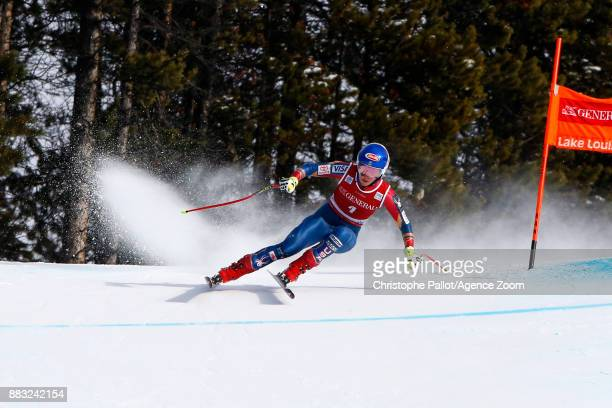 Mikaela Shiffrin of USA in action during the Audi FIS Alpine Ski World Cup Women's Downhill Training on November 30 2017 in Lake Louise Canada