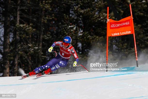Mikaela Shiffrin of USA in action during the Audi FIS Alpine Ski World Cup Women's Downhill on December 2 2017 in Lake Louise Canada