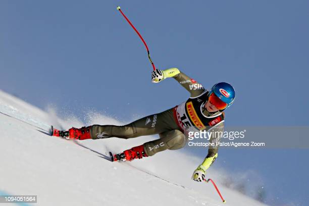 Mikaela Shiffrin of USA in action during the FIS World Ski Championships Women's Super G on February 5 2019 in Are Sweden