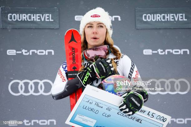 Mikaela Shiffrin of USA takes 1st place during the Audi FIS Alpine Ski World Cup Women's Giant Slalom on December 21 2018 in Courchevel France