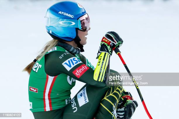 Mikaela Shiffrin of USA takes 1st place during the Audi FIS Alpine Ski World Cup Women's Giant Slalom on December 28, 2019 in Lienz Austria.