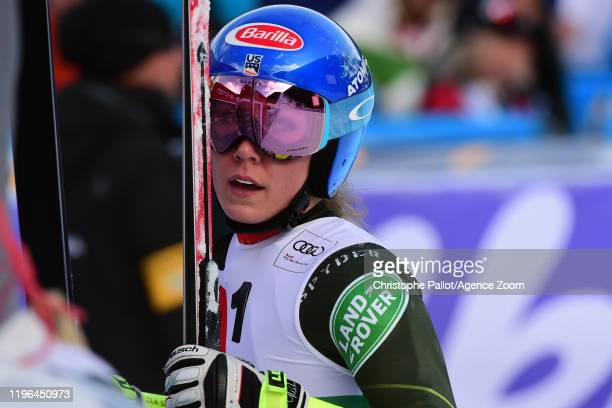 Mikaela Shiffrin of USA takes 1st place during the Audi FIS Alpine Ski World Cup Women's Super G on January 26, 2020 in Bansko Bulgaria.