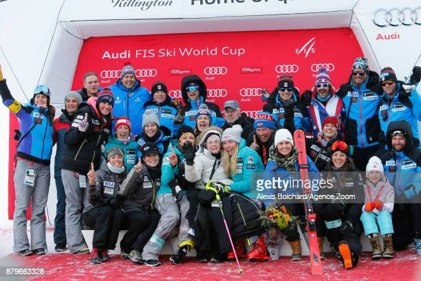 Mikaela Shiffrin of USA takes 1st place during the Audi FIS Alpine Ski World Cup Women's Slalom on November 26 2017 in Killington Vermont