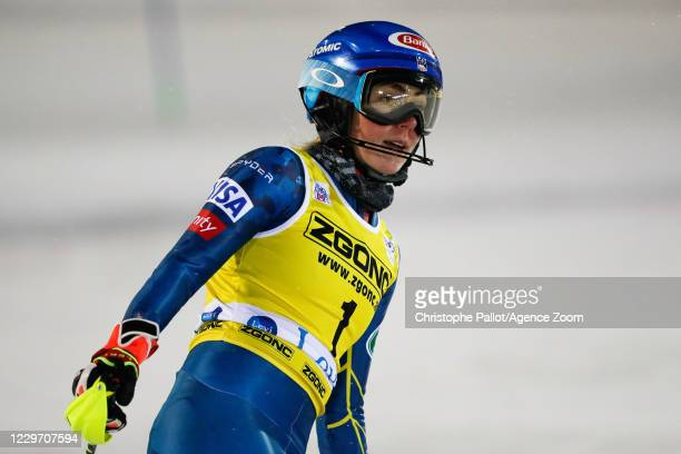 Mikaela Shiffrin of USA takes 2nd place during the Audi FIS Alpine Ski World Cup Women's Slalom on November 21, 2020 in Levi Finland.