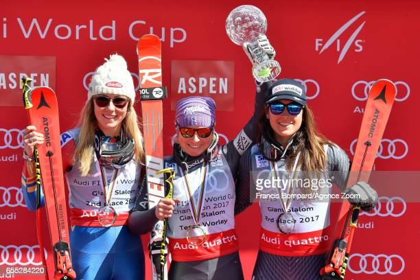 Mikaela Shiffrin of USA takes 2nd place in the overall standings Tessa Worley of France wins the globe in the overall standings Sofia Goggia of Italy...
