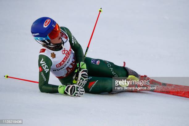 Mikaela Shiffrin of USA wins the gold medal during the FIS World Ski Championships Women's Slalom on February 16 2019 in Are Sweden