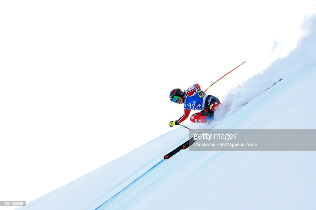 Mikaela Tommy of Canada in action during the Audi FIS Alpine Ski World Cup Women's Downhill Training on January 12, 2018 in Bad Kleinkirchheim, Austria.